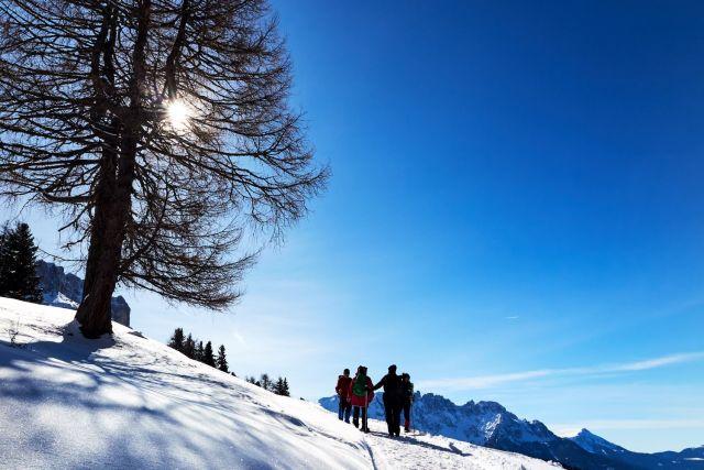Winterwandern in den Dolomiten - Naturbegegnung Wanderreisen Sinzinger